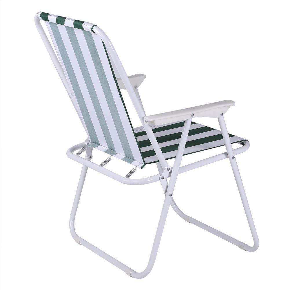 Folding Camping Chair Festival Garden Seat Fold Up Stool Deck Fishing UK STOCK
