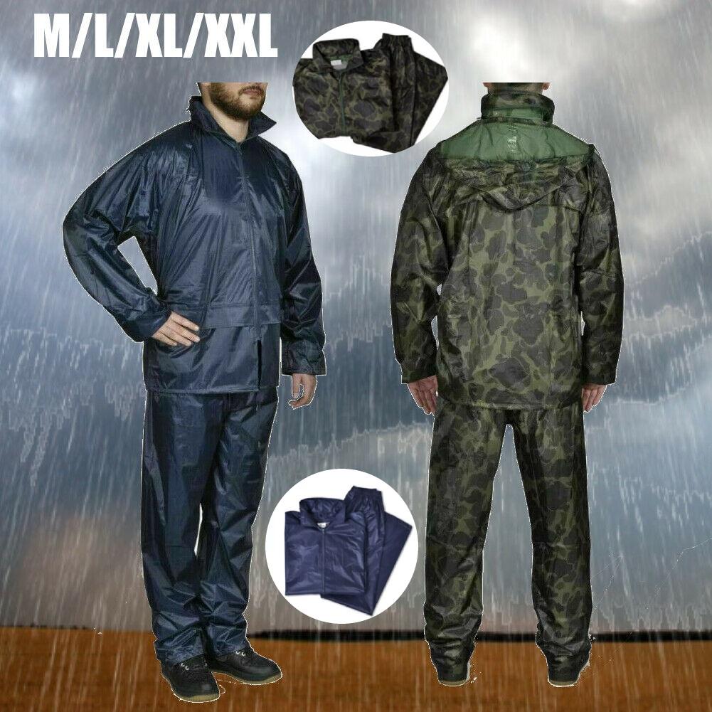 Regenbekleidung für Männer Wasserdicht Langlebig 2-teilige regenanzug Regenkombi