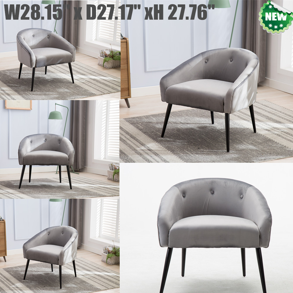 Details about Modern Accent Chair Armchair Single Sofa Leisure Chair Living  Room Velvet Grey