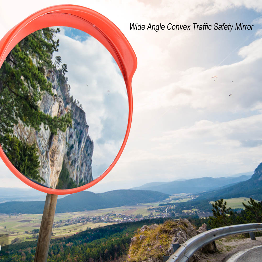 """Convex PC Traffic Mirror 12//18//24/"""" Acrylic Outdoor Safety Security Blind Spot US"""