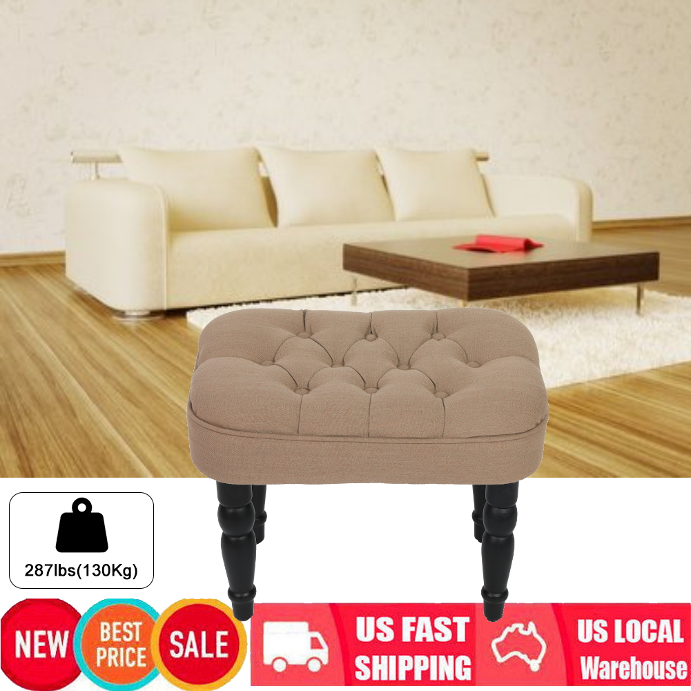 Details about Dressing Stool Vanity Ottoman Design Makeup Cushioned Bedroom  Chair Piano Seat