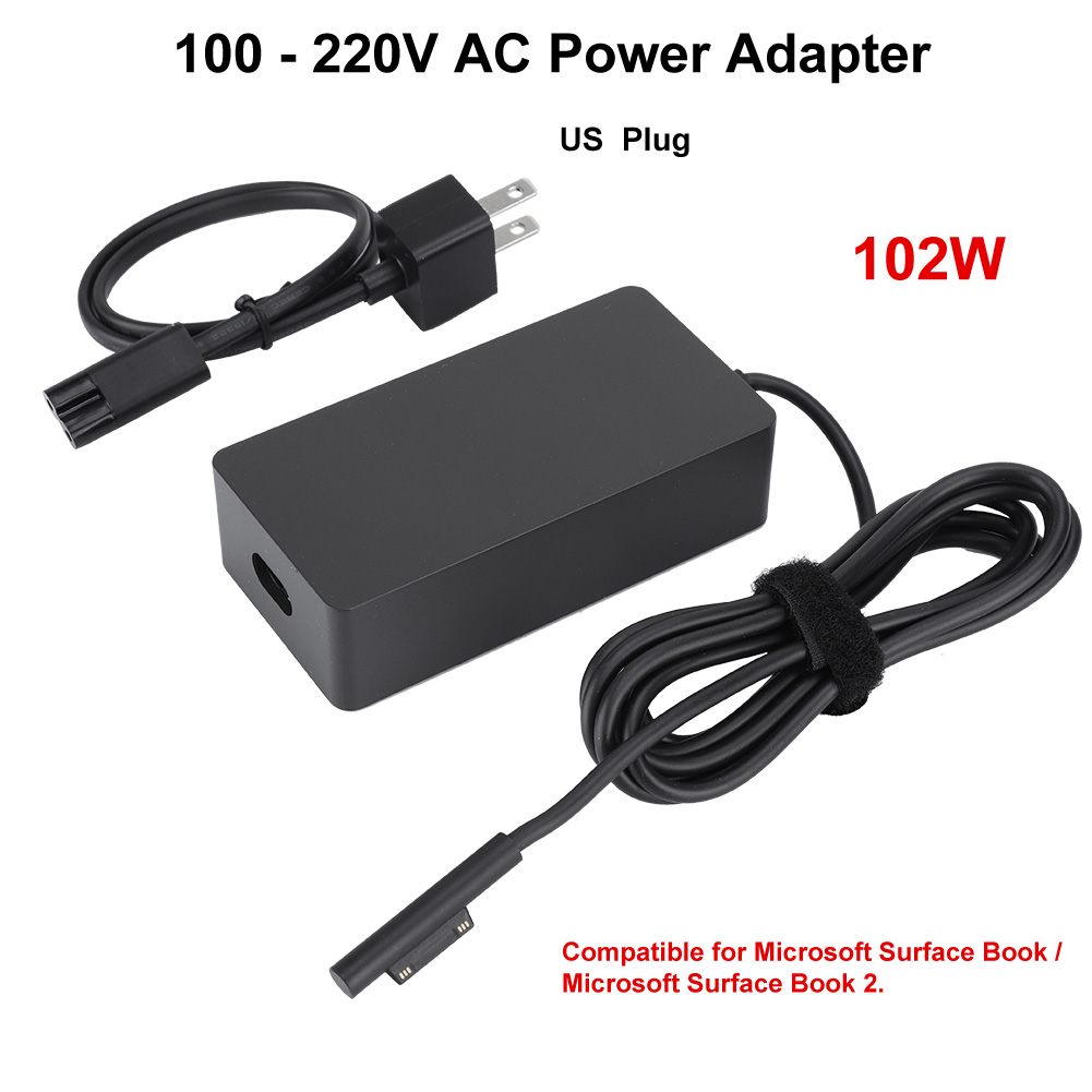 102W AC Power Supply Charger Adapter For Microsoft Surface Book 1//2 100-240V MS