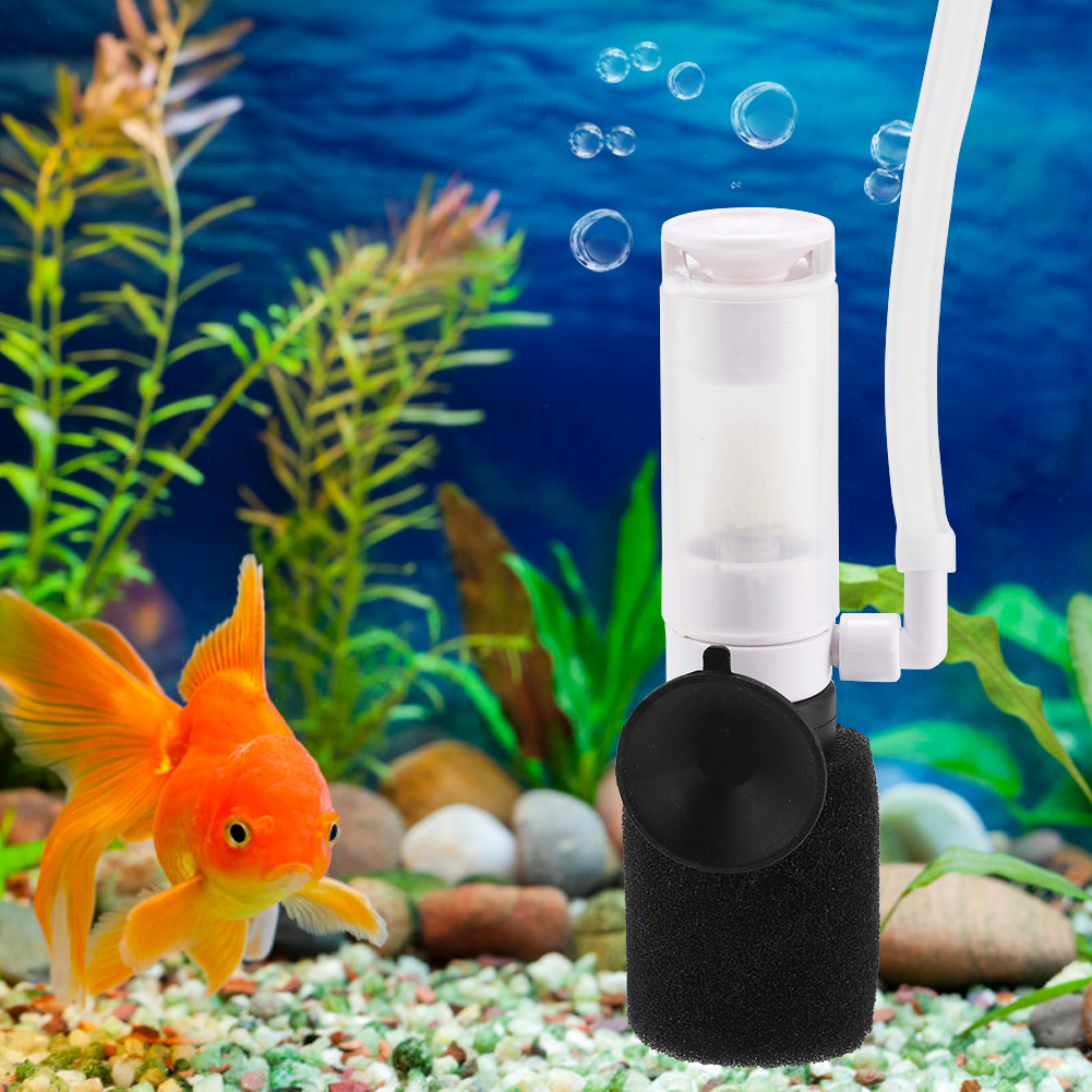 Aquarium Air Pump Mini Biochemical Sponge Filter O2 Pump Skimmer Fish Tank New Ebay