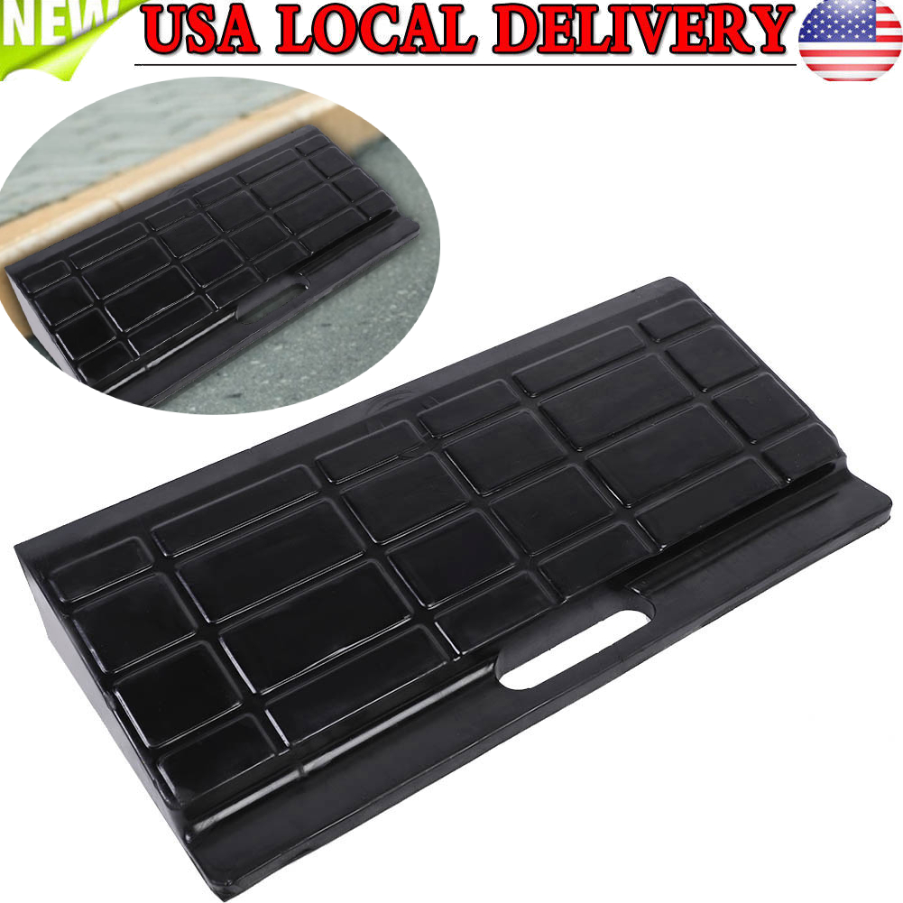 2Pcs Rubber Kerb Ramp Access Ramp for Wheelchair Disability Access Trolley