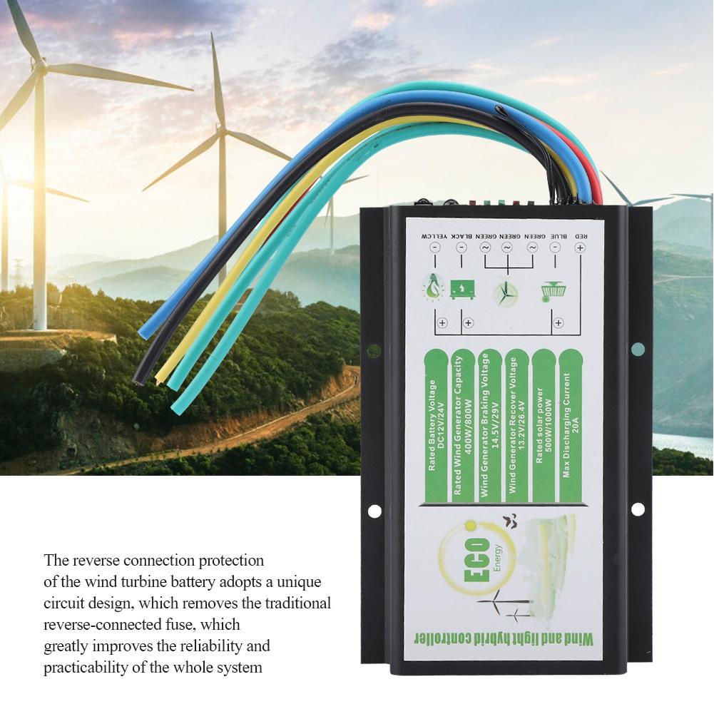12V//24V Windgenerator Hybrid Laderegler Wind Turbine Solar Controller  400W//800W