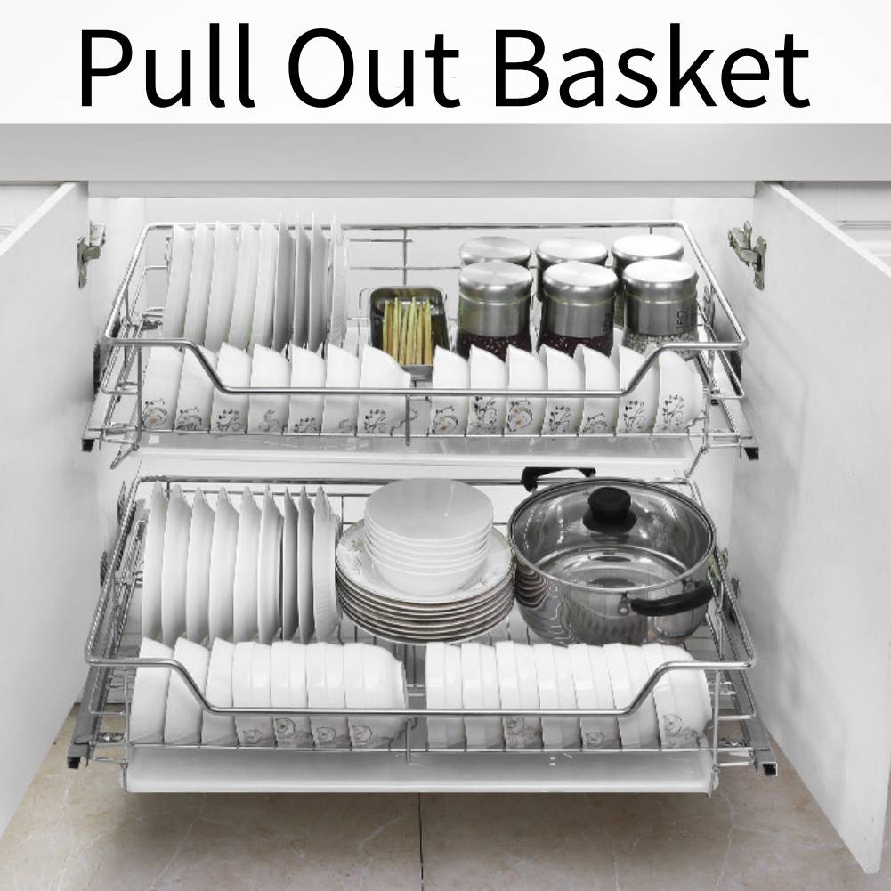 Pull Out Wire Baskets Kitchen Unit Cabinet Cupboard Drainer 350