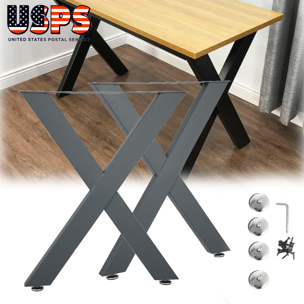 Stainless Metal Table Legs 11.8/'L U Shape for Dining Table Desk 2PC Heavy Duty