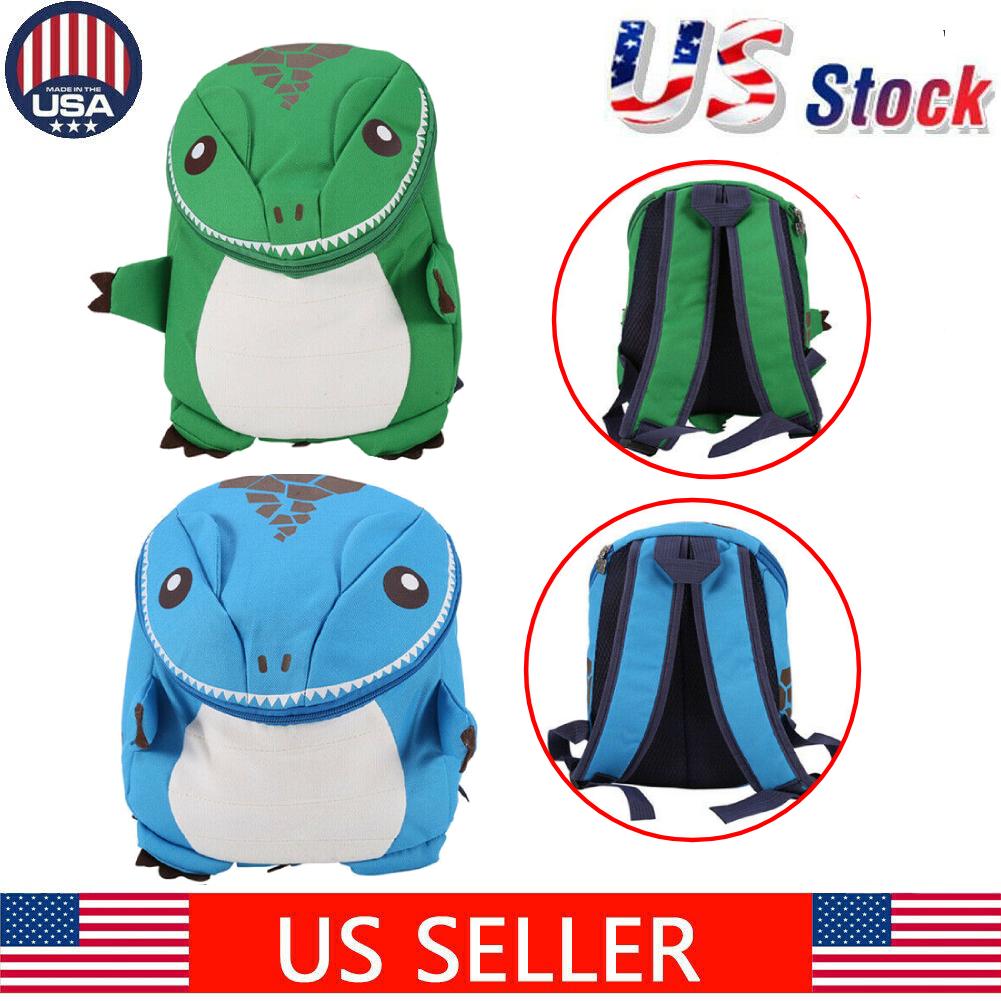 Kids 3D Cartoon Waterproof Schoolbag Dinosaur Backpack Boy Girl Toddler Rucksack