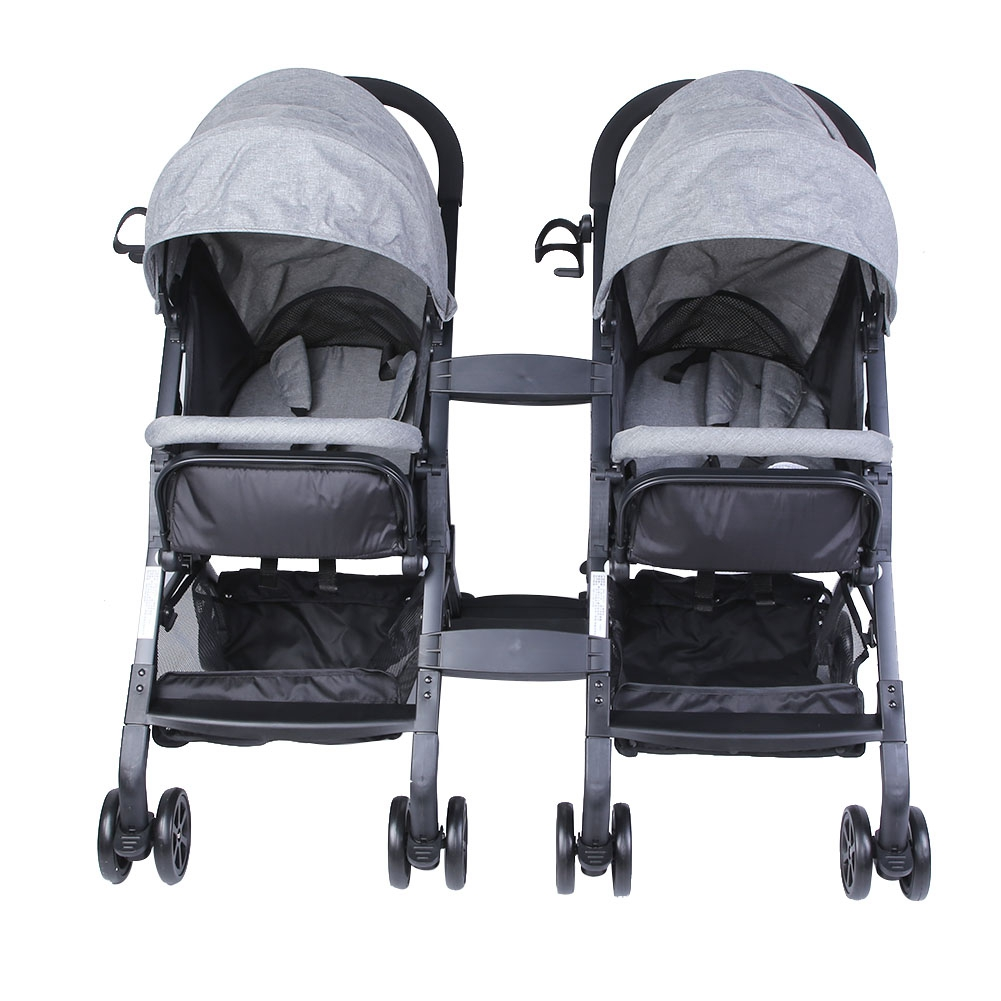 Folding Tandem Stroller Double Pushchair Twin Baby Toddler Double Pram Buggy New