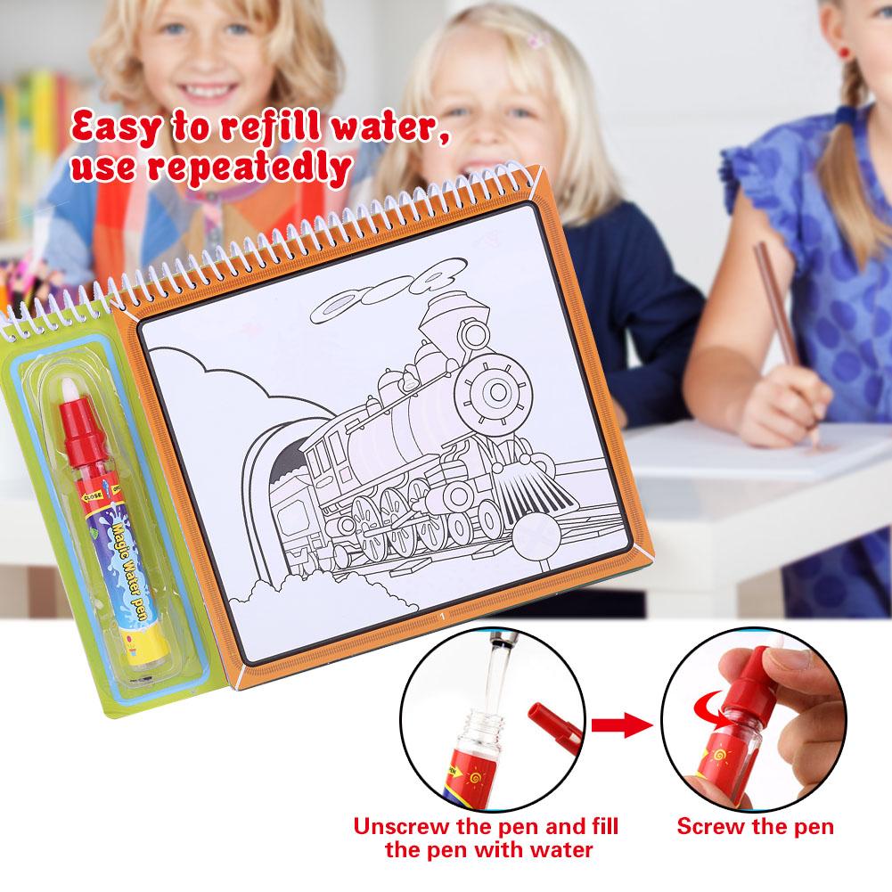 Children Kids Water Drawing Book Pen Set Magic Coloring Learning