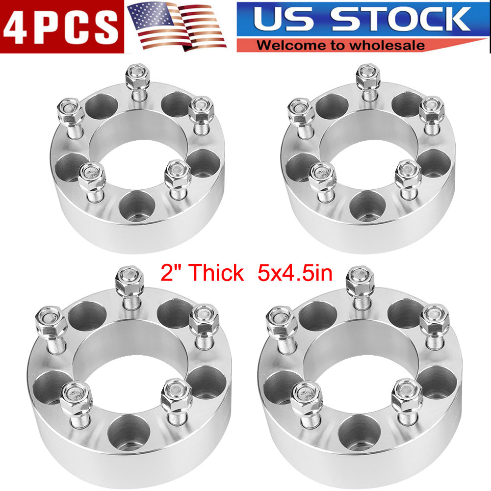 """Set of 4 Wheel Spacers 2/"""" 5x4.5 Bolt Pattern Fits 1984-2001 Jeep Cherokee"""