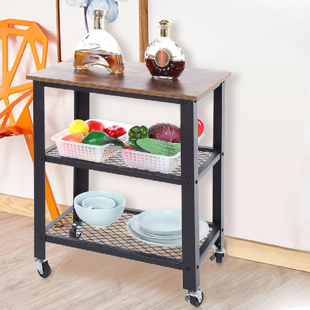 Rolling Kitchen Island Trolley Serving