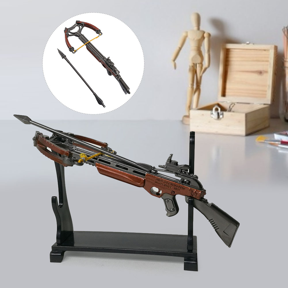Mini Complete Metal Crossbow Model Outdoor Shooting Fun Toy Decoration Keyrings