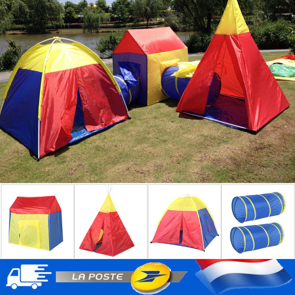 Maison Pour Enfant Exterieur détails sur 3 en 1 tente de jeu tipi pour enfants château cabane maison  jouet in / extérieur