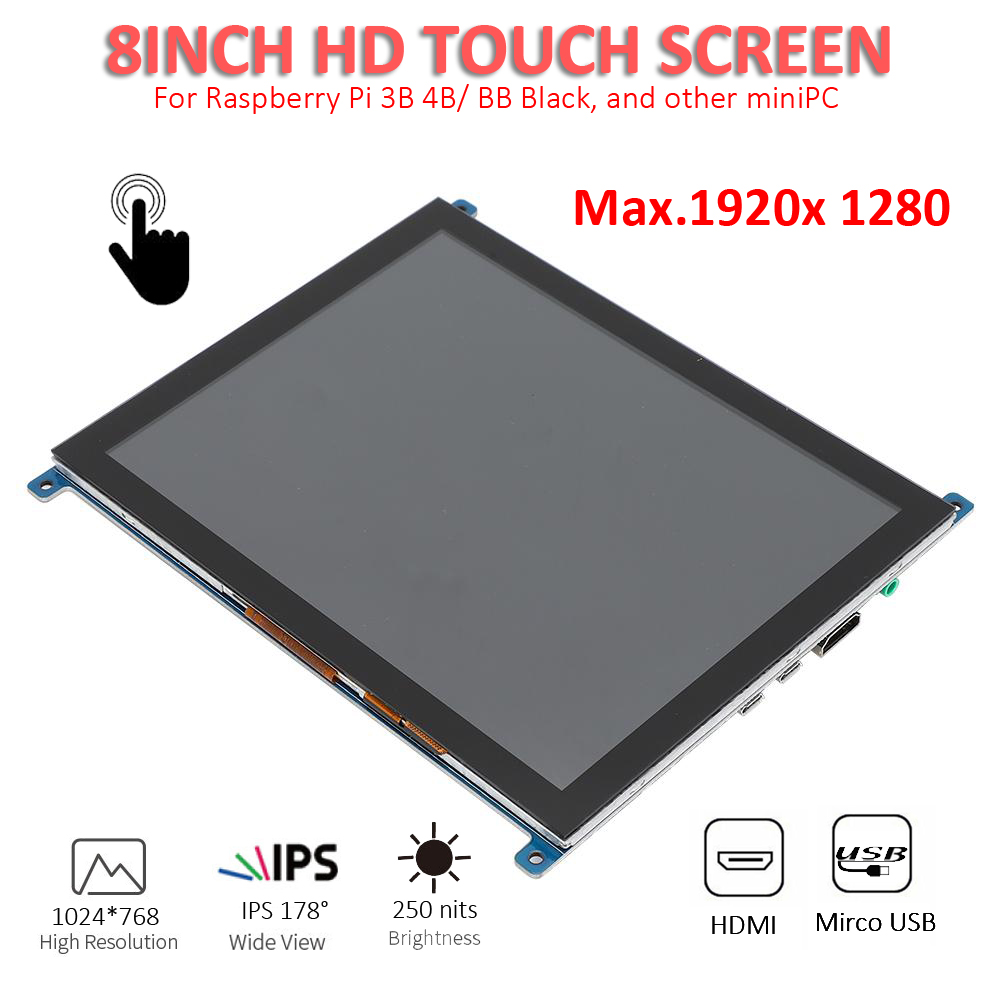 7inch IPS Display HDMI LCD for Raspberry Pi 1080P HD Capacitive Touch Screen UK