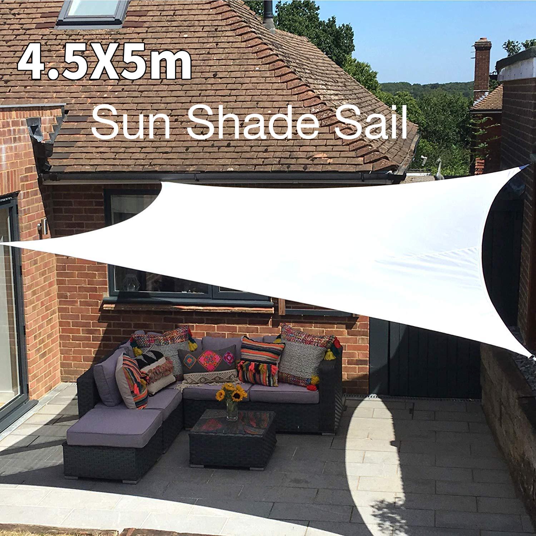 House Garden Sun Shade Sail Patio Sunscreen Awning Canopy Shade 98/% UV Block UK