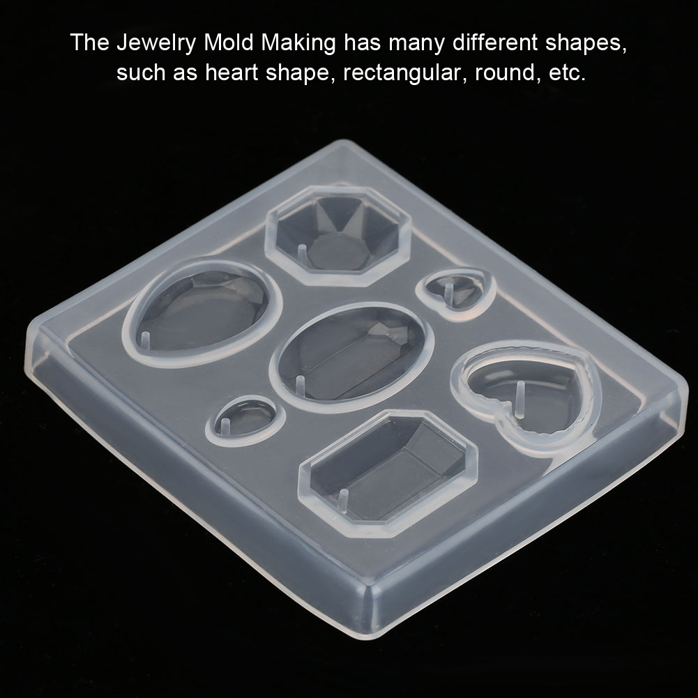 Jewelry Display Base Cabochon Silicone Mold Mould for Epoxy Resin DIY Pendent Craft Wedding Cake Decor Mold Tools