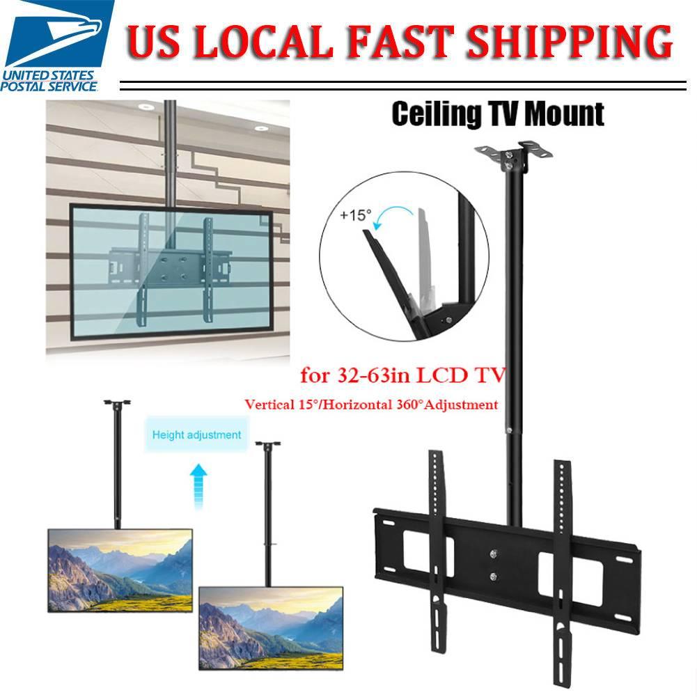 """Vertical 15°//Horizontal 360° Tilt Swivel TV LCD LED Ceiling Mount Bracket 32-63/"""""""