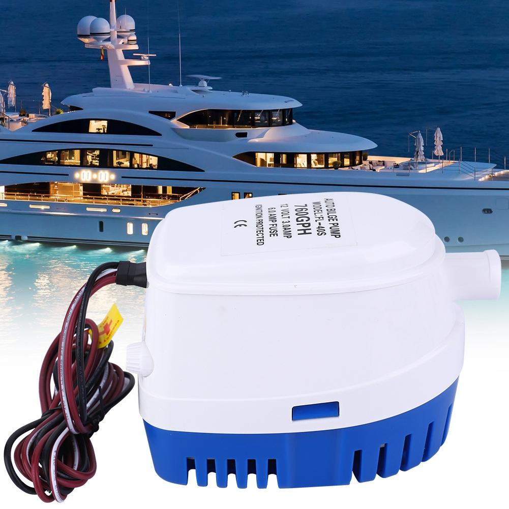 Gallonen 12V Lenzpumpe Bilgepumpe Yacht Bilgenpumpe mit Automatikschalter  760
