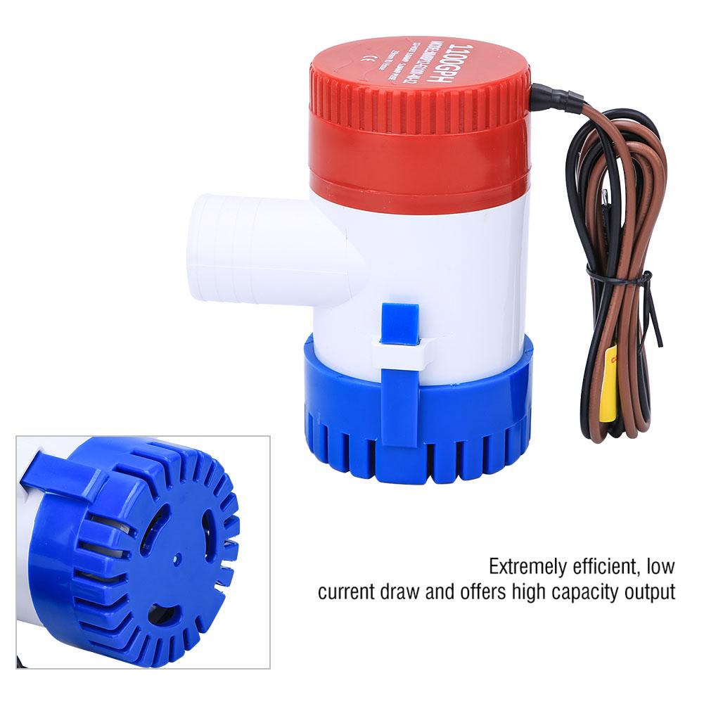 12V 1100GPH Elektrische Bilgenpumpe Lenzpumpe Wasserpumpe Wasser Pumpen Top