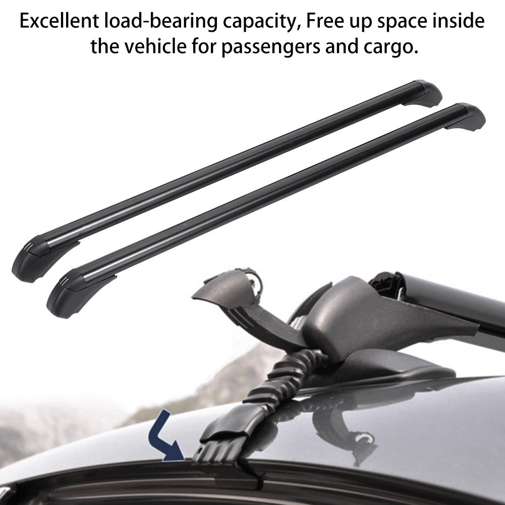 TBvechi Automotive Cargo Racks 1M Aluminum Car Top Roof Rack Cross Bar Luggage Carrier Adjustable Window Frame