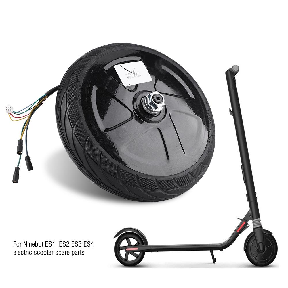 For Xiaomi Scooter Spare Parts ES2 Motor Tire for Ninebot ES1 ES3 ES3 ES4 Black^