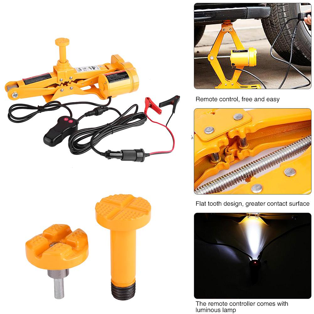 Electric Scissor Floor Jack Lift Car SUV 3 Ton 12V w// Impact Wrench Fuses UK