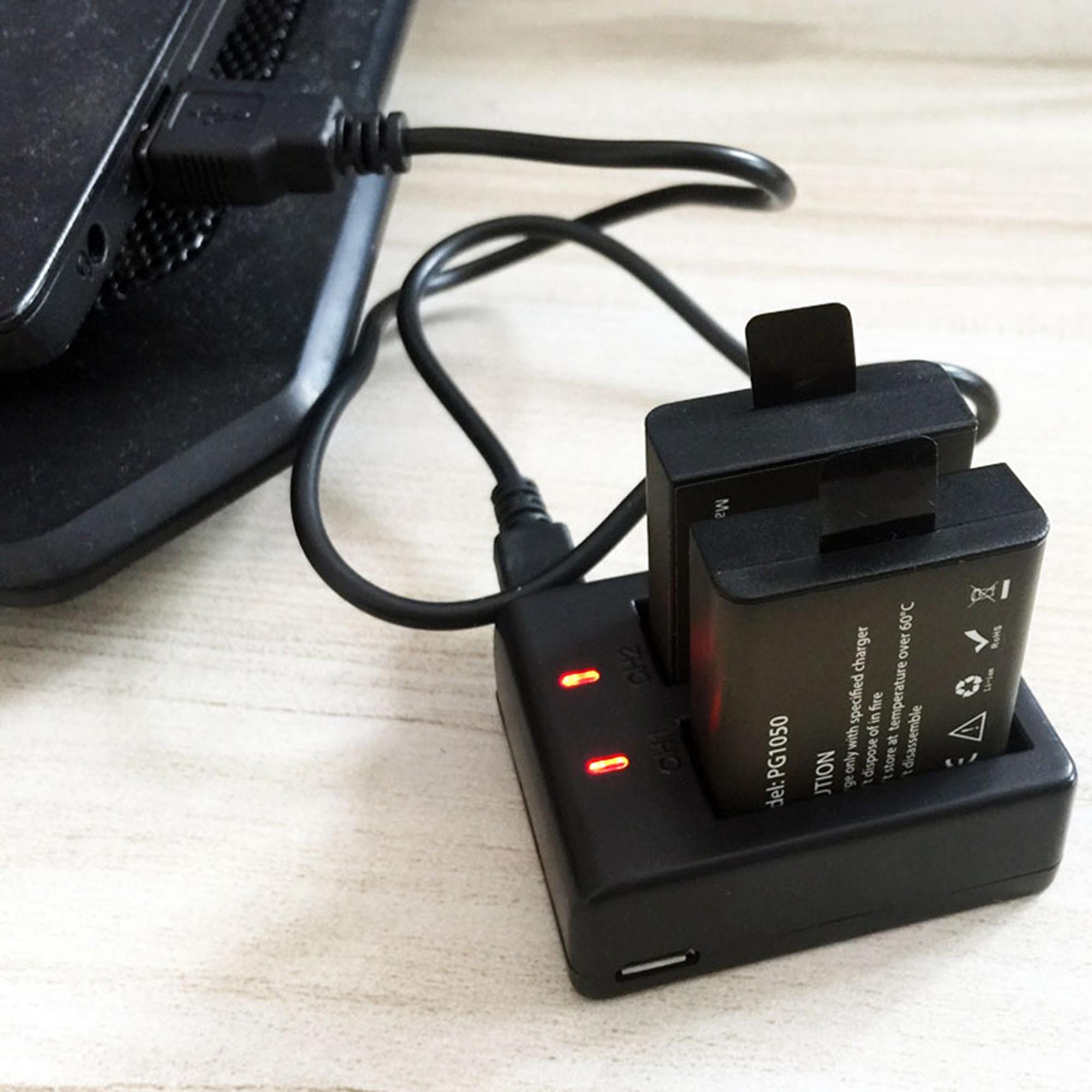 Cámara de batería cargador Micro USB para Eken h8 h8r h9 h8 pro h9r