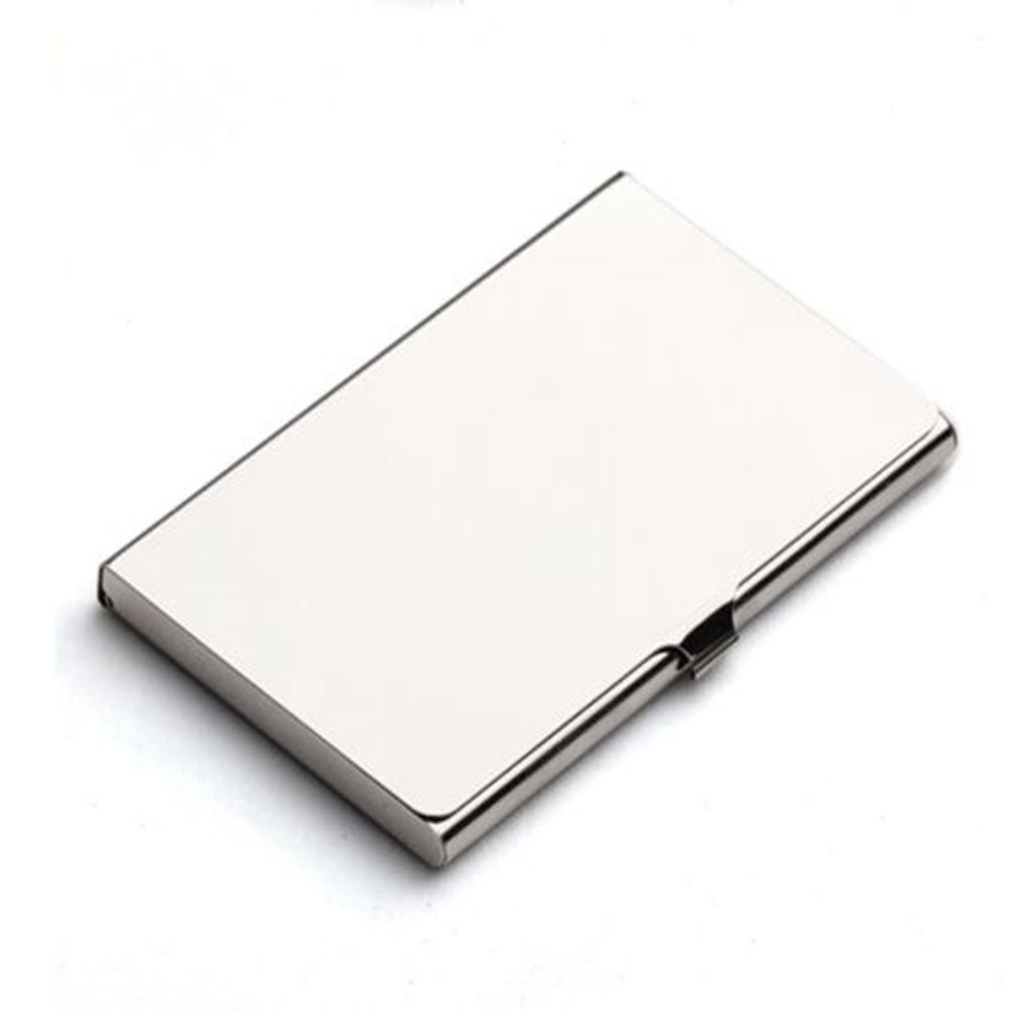 Pocket Stainless Steel /& Metal Business Card Holder Case ID Wallet SilvervecJB