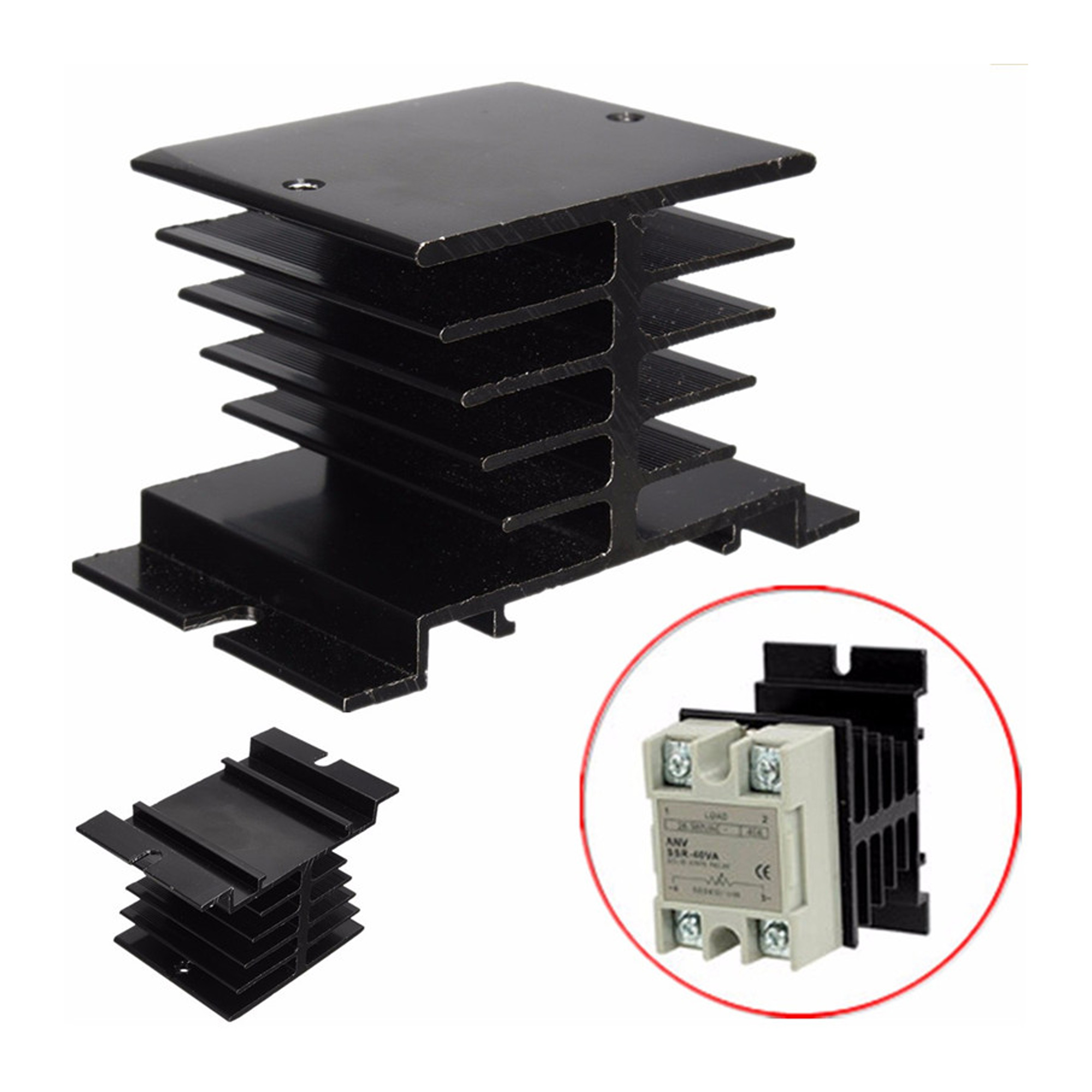 Aluminum Heat Sink Solid State Relay SSR Small Size Heat Dissipation 10A-40A BBC