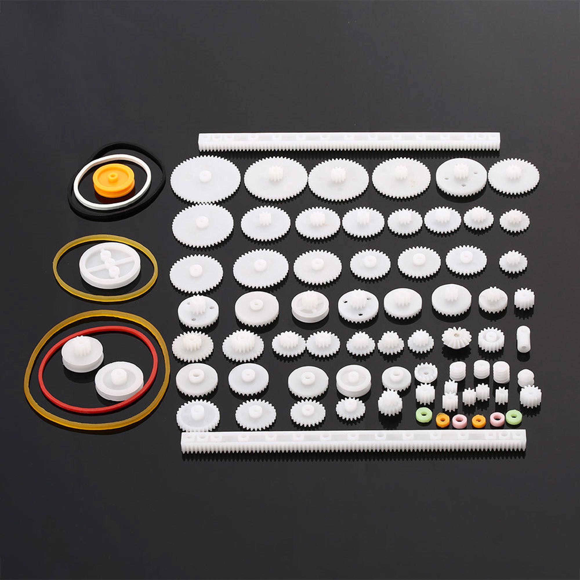 Plastic Gears Pulley Belt Worm DIY Rack Kits Crown Gear 11//34//58//75 kinds