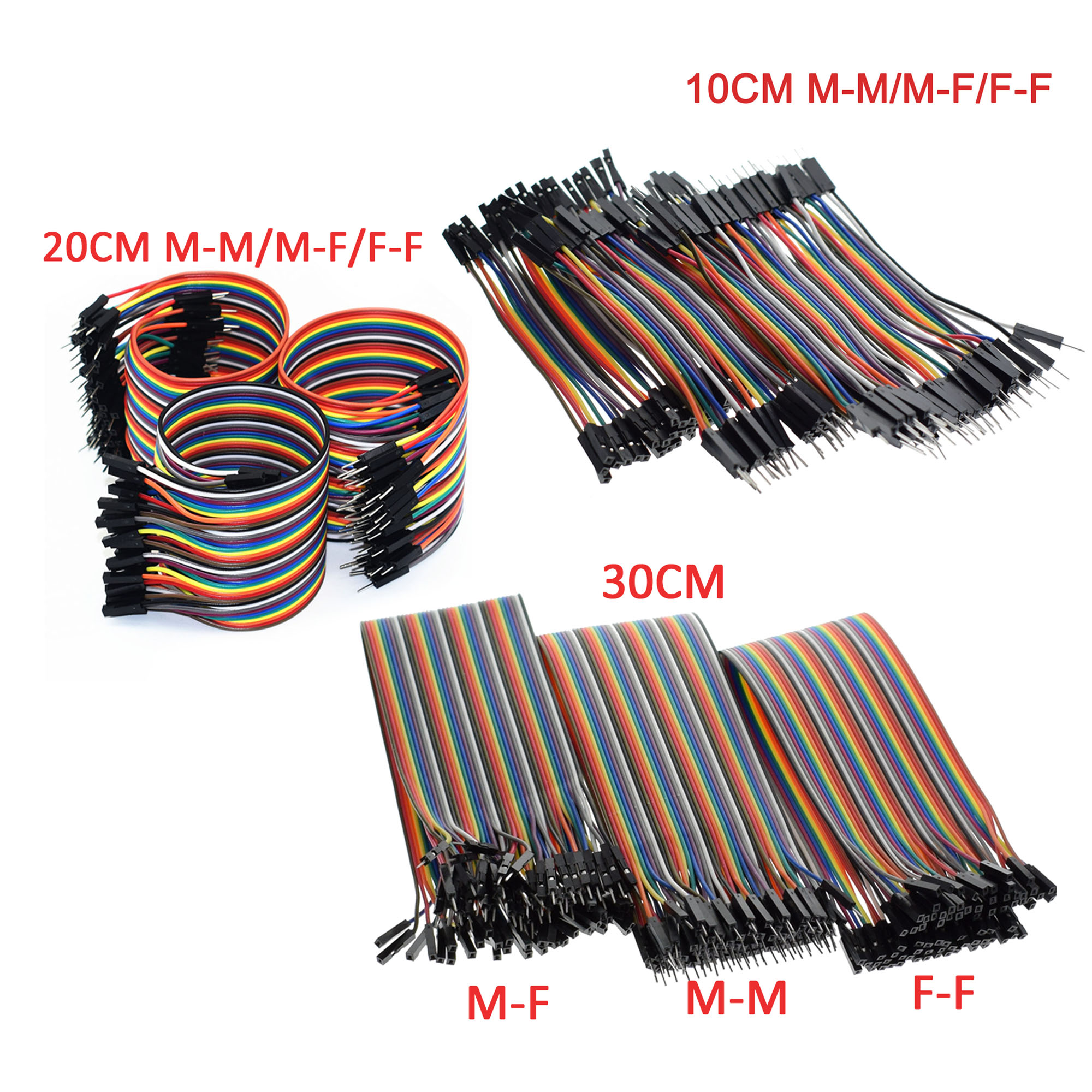F-f m-f 40pin dupont Jumper Wire 10cm//20cm cable M-M