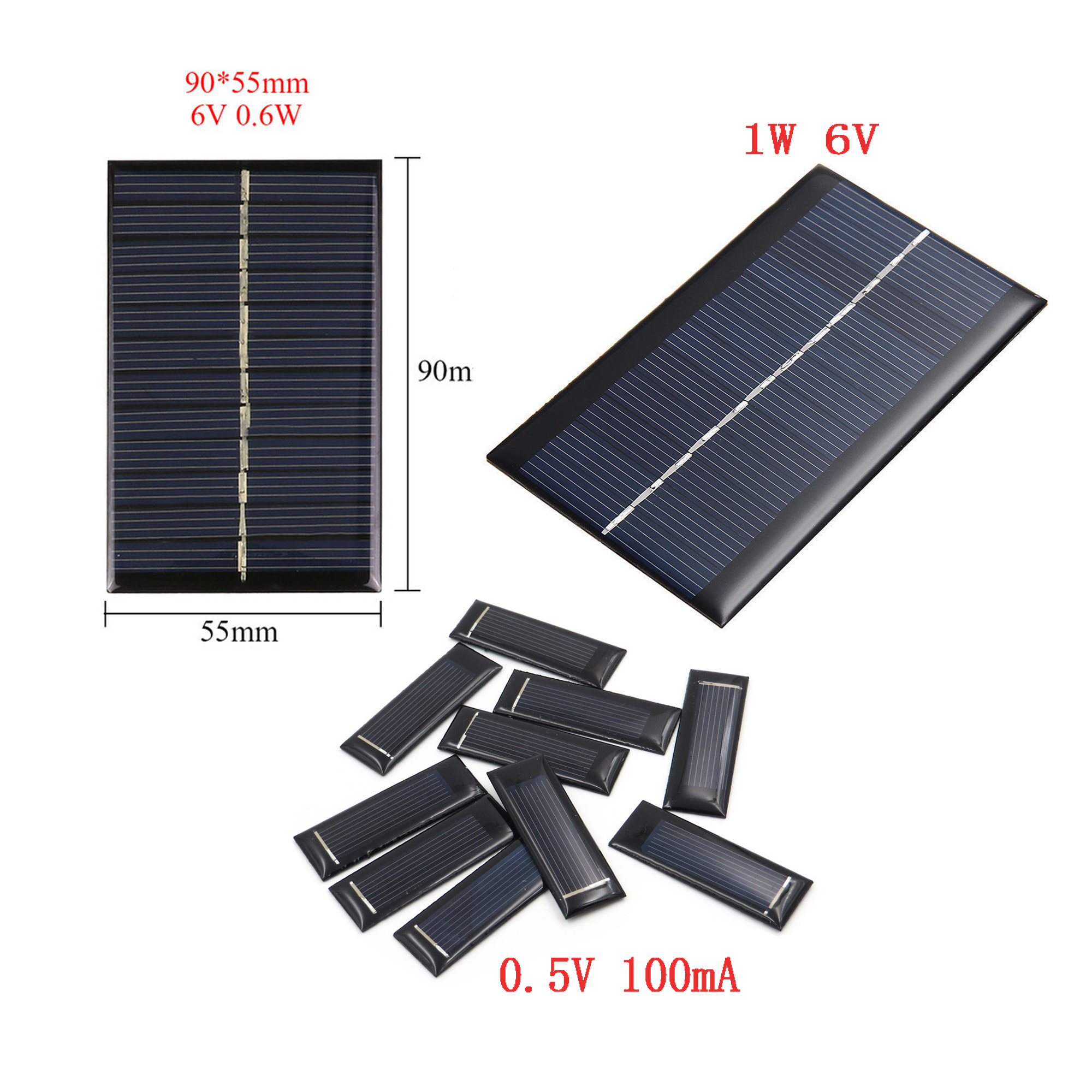 0 5v 100ma 0 6w 6v 1w 6v Solar Panels Battery Charge Solar Battery Panels Ebay