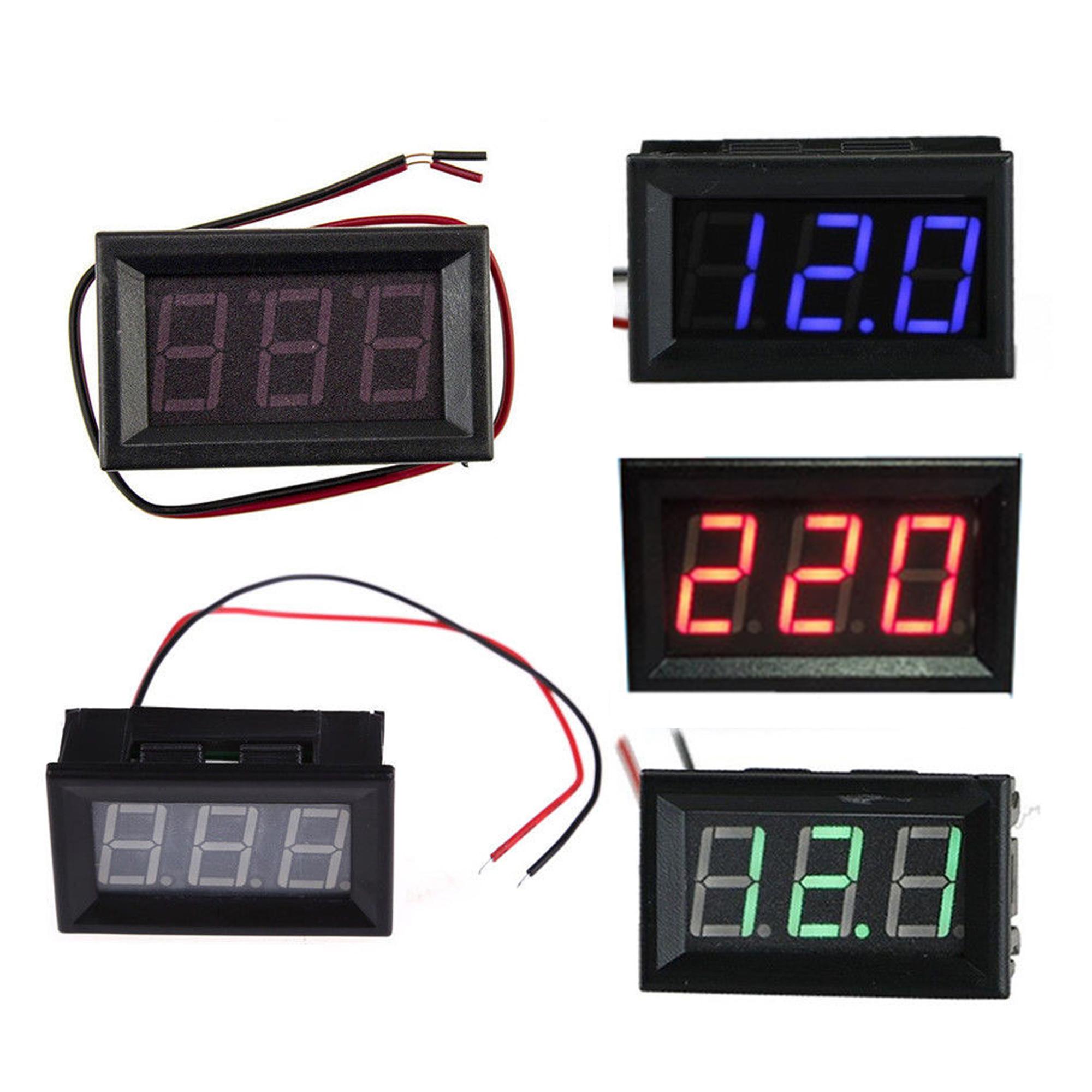 Green LED Panel Meter Digital Voltmeter DC 0V To 30V Three-wrie ASS