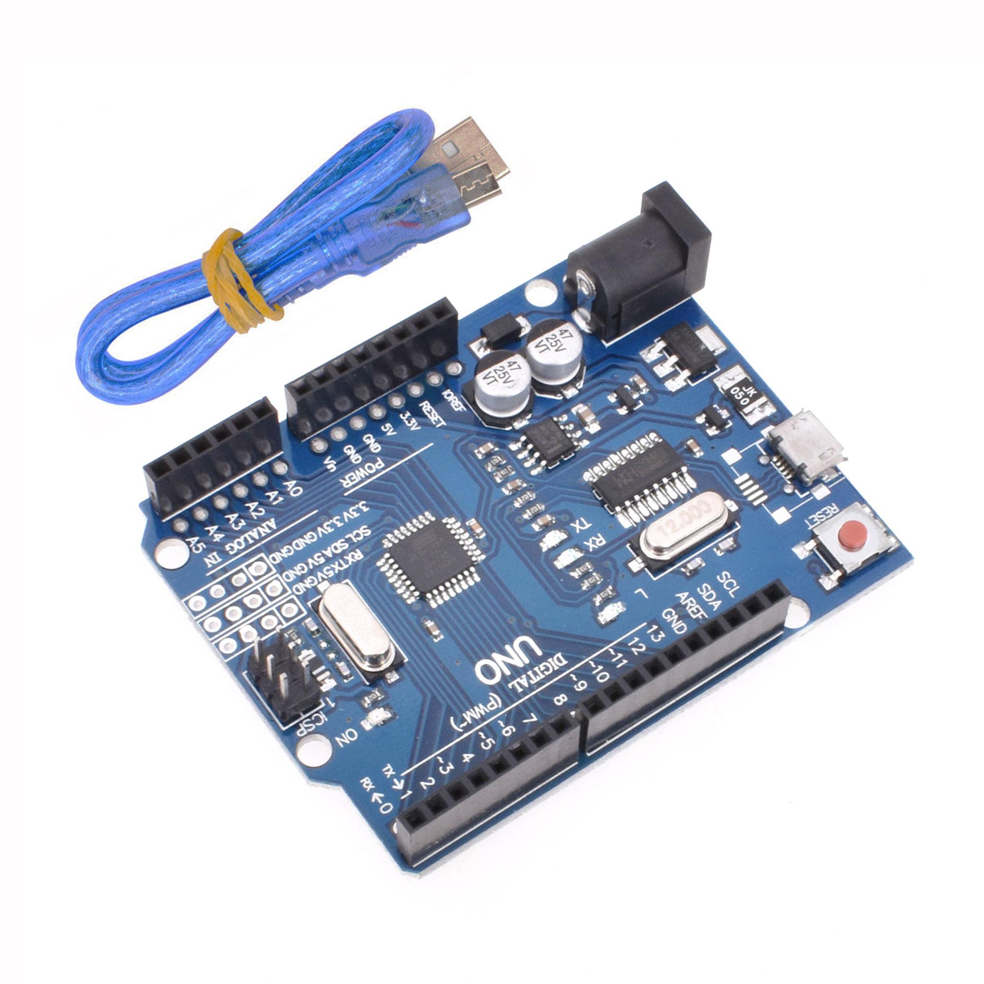 Arduino UNO R3 Mini//Micro USB ATmega328P CH340G Replace ATmega16U2 Board IL