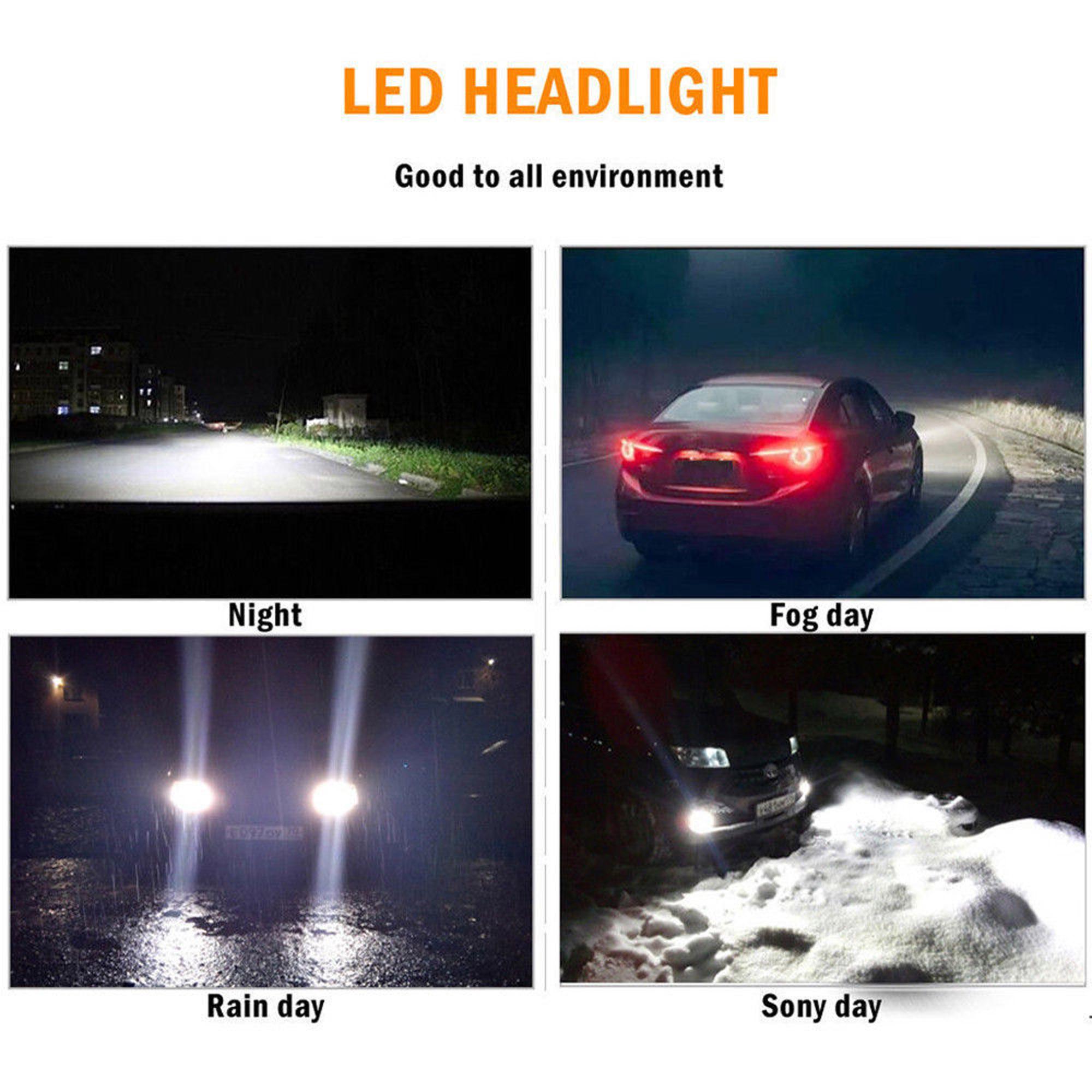2x H7 CREE LED Headlight Kit 110W Car High or Low Beam Bulb Super Bright LD2046