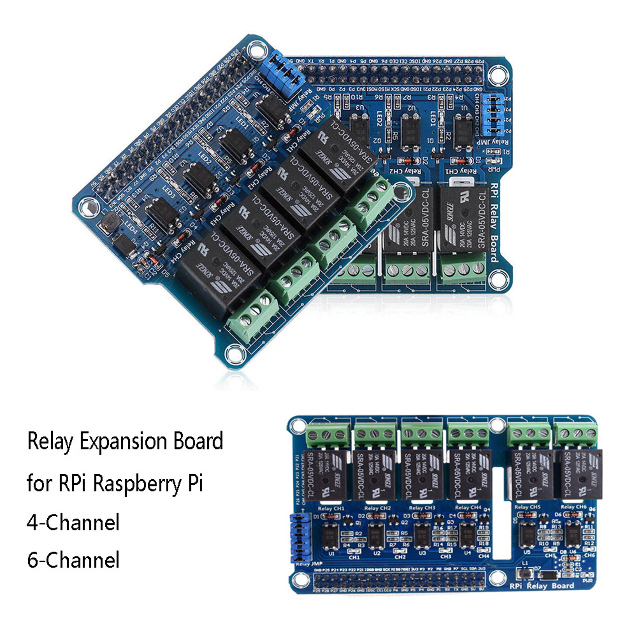 4//6 Channel RPi Relay Module Expansion Board for Raspberry Pi 3 2 A+B+2B 3B UK