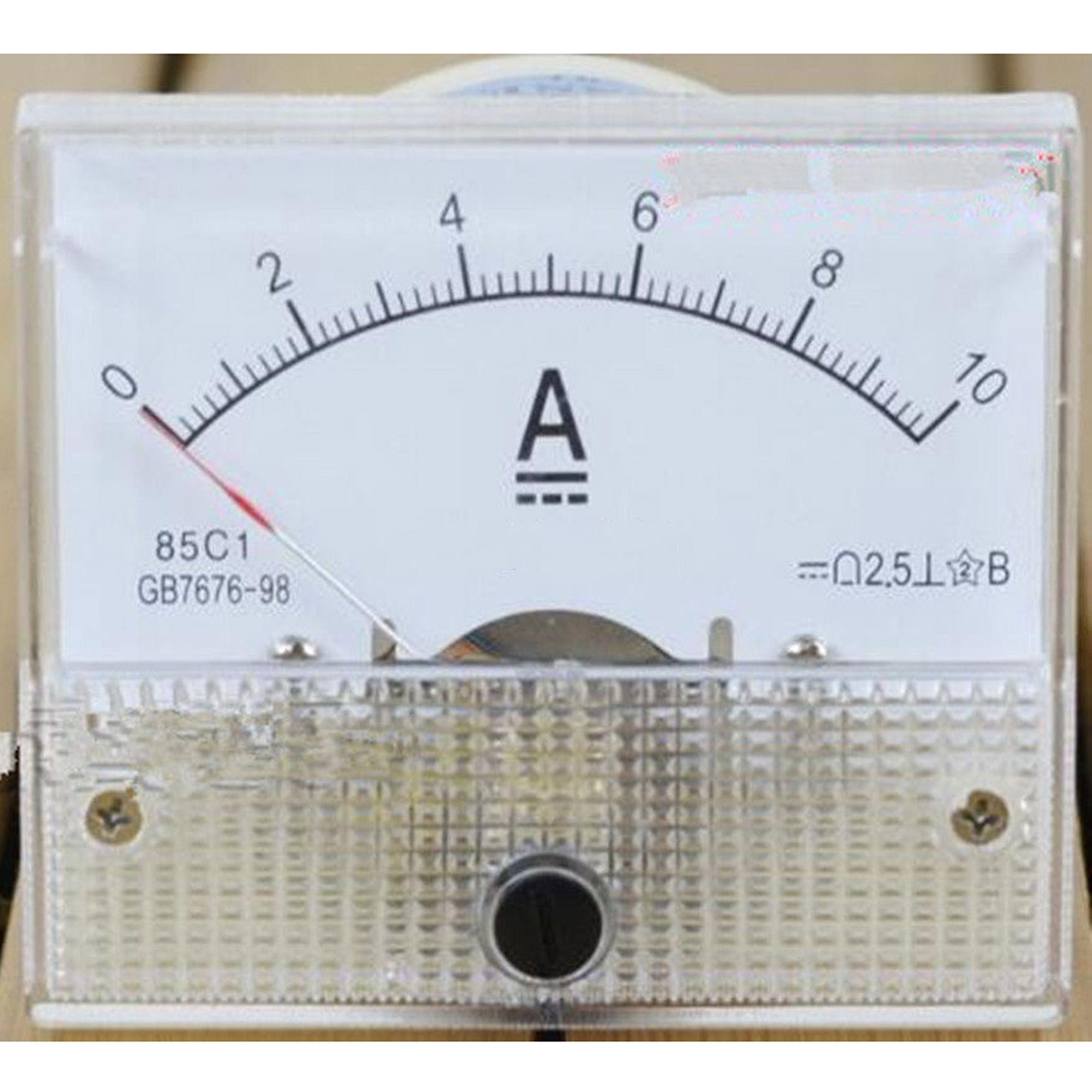 1 × DC 30 V Analog Panel Volt Voltage Meter voltmètre Gauge 85C1 Blanc 0-30 V DC