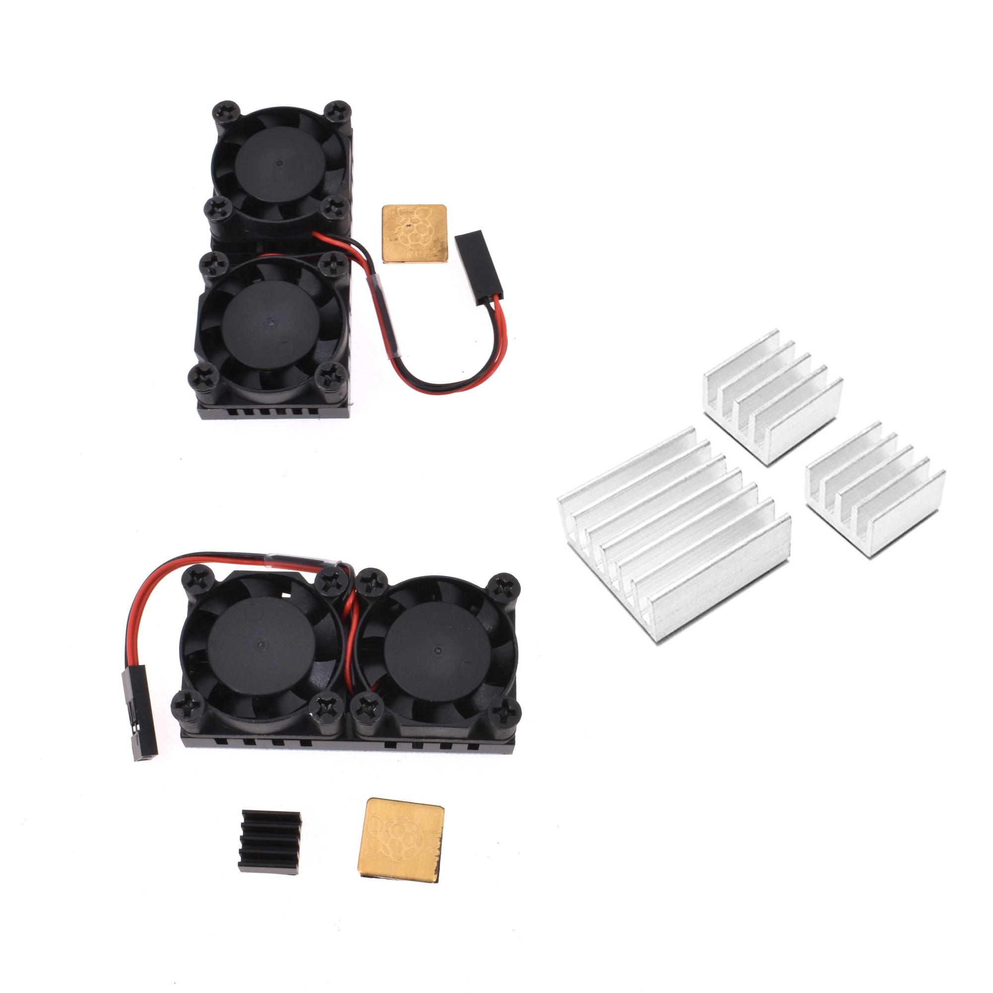 Ultimate Dual Cooling Fan Kit with Aluminum Heatsink For Raspberry Pi 3//2B 3B+