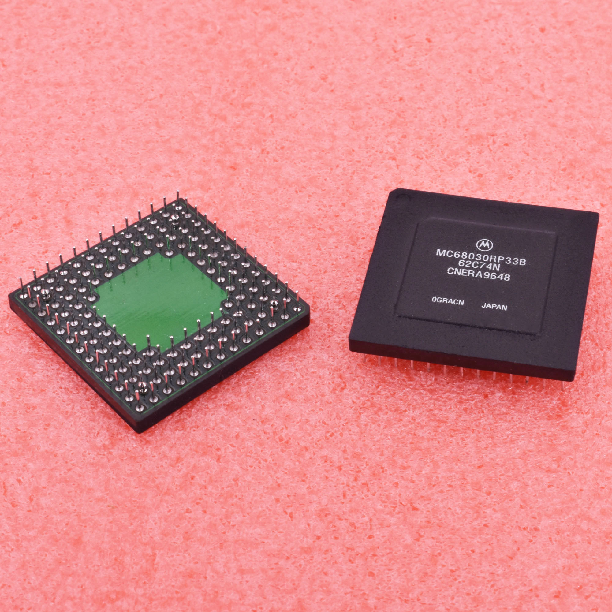 1pcs MC68030RP33B 32-BIT Vintage Microcontroller 33MHz PGA