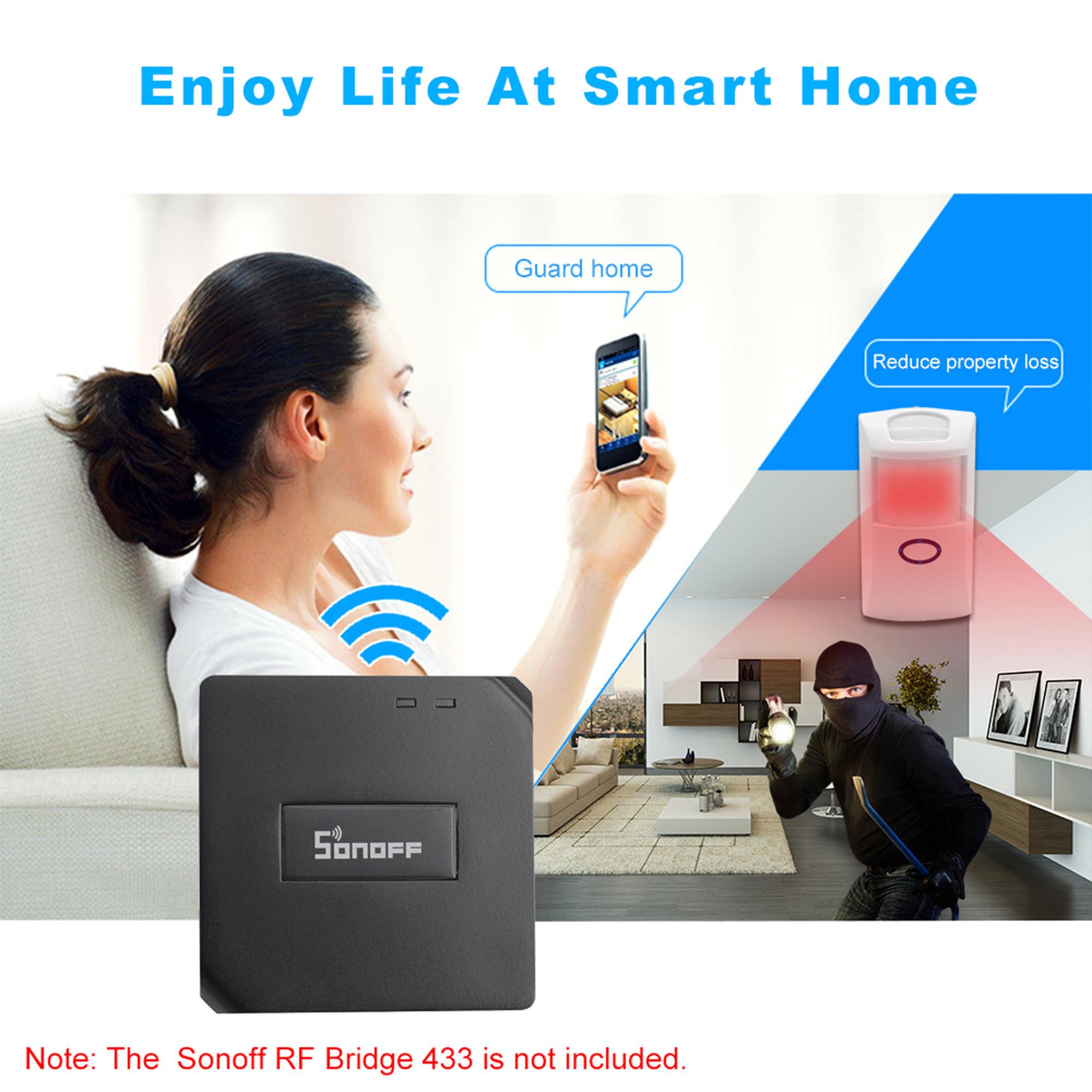 Sonoff RF Bridge WIFI 433MHz Controller+ Motion+ DW1 Door
