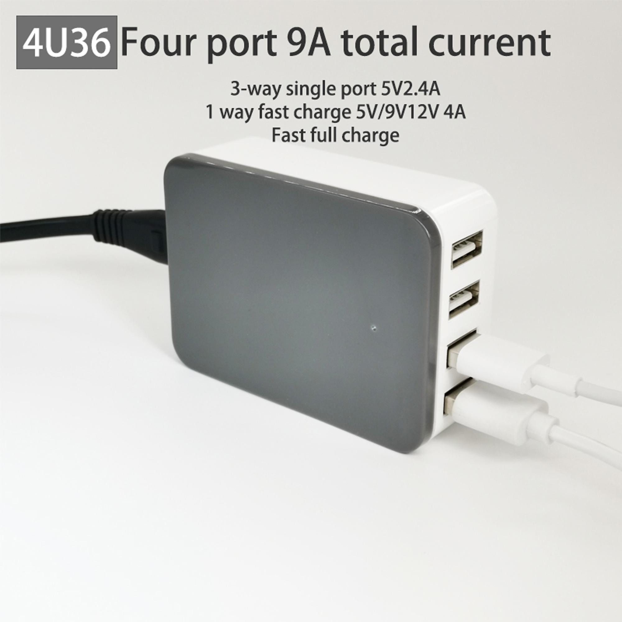 4U36//4UL with fast charge Car marine multi-port USB charger DC12V24V36V input