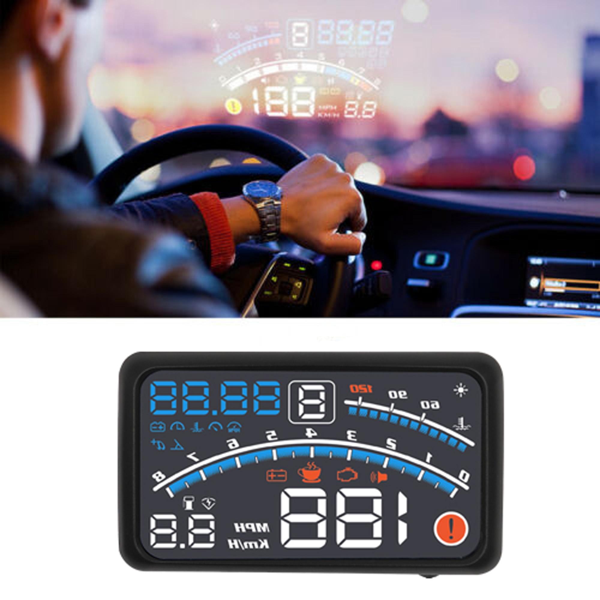 5 5 Car Vehicle Obd2 Hud Head Up Display Fuel Consumption Overspeed Warning