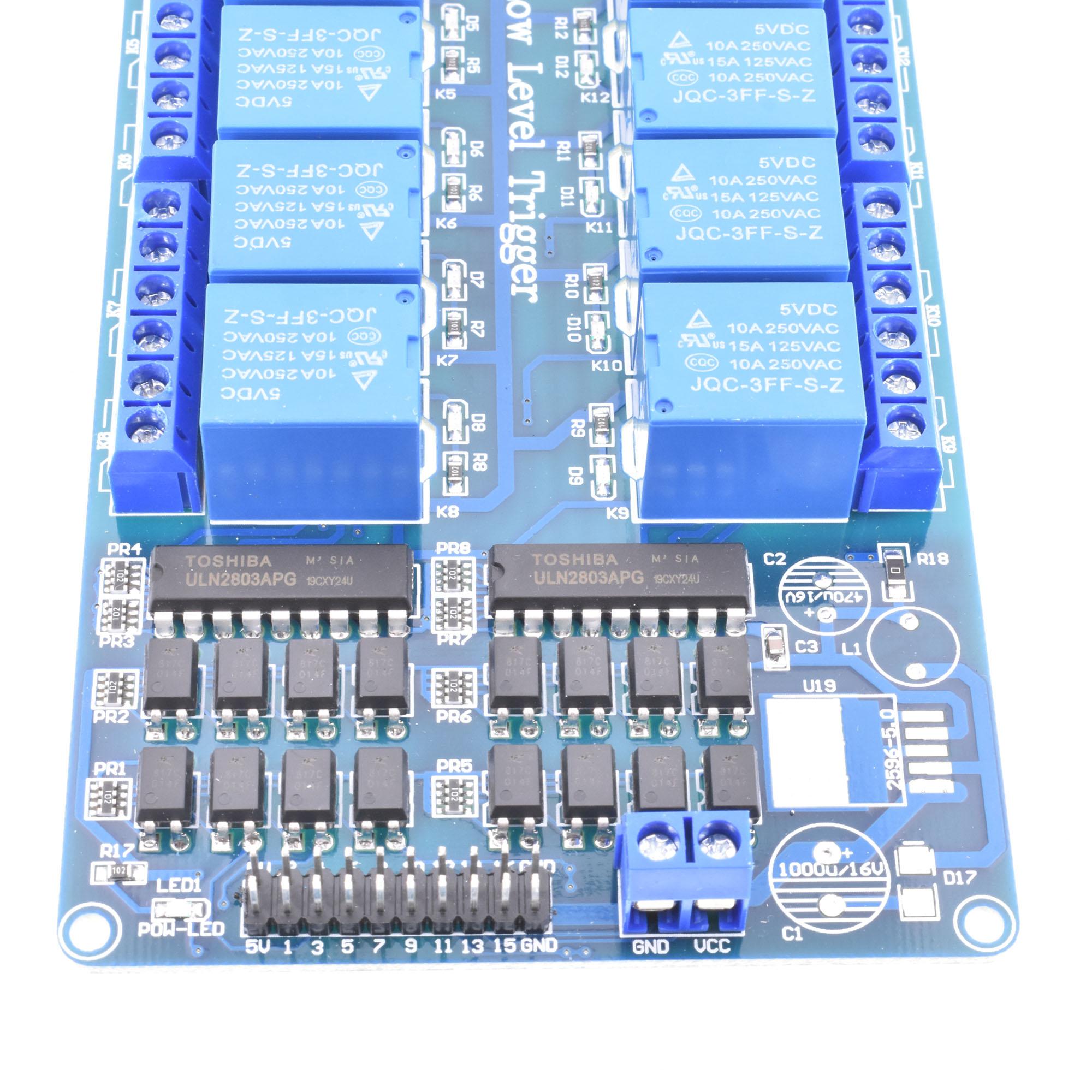5V 1//2//4//8 Kanal Relais Board Modul Optokoppler LED für Arduino PiC ARM AVR ZP