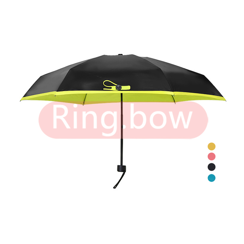 48b815e15d14 Details about Mini Rain Umbrella 95% UV Protective 5 Ribs Folding Compact  Ultra Light Parasol.