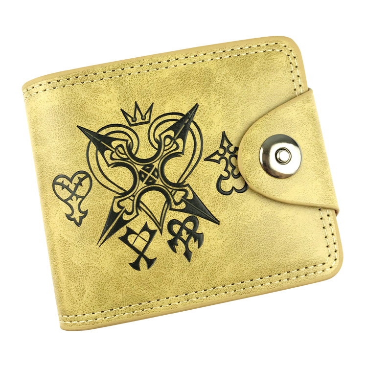 Kingdom Hearts leather PU Wallet Holder Layers Bifold Card Coin Short Purse