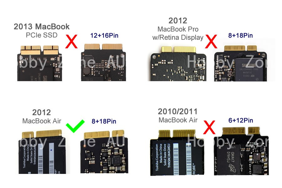 for 2012 MacBook USB3.0 to 18+8Pin SSD Adapter