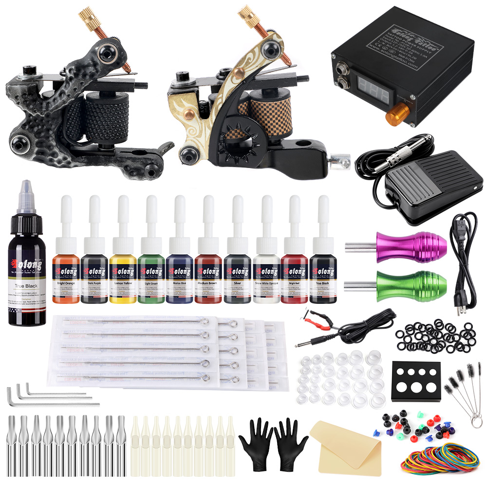 Beginner Complete Tattoo Kit 2 Tattoo Machine Guns Set 10 Ink Power Supply Tk222 Ebay Guns are powerful tools that can be used with good or bad intentions. details about beginner complete tattoo kit 2 tattoo machine guns set 10 ink power supply tk222