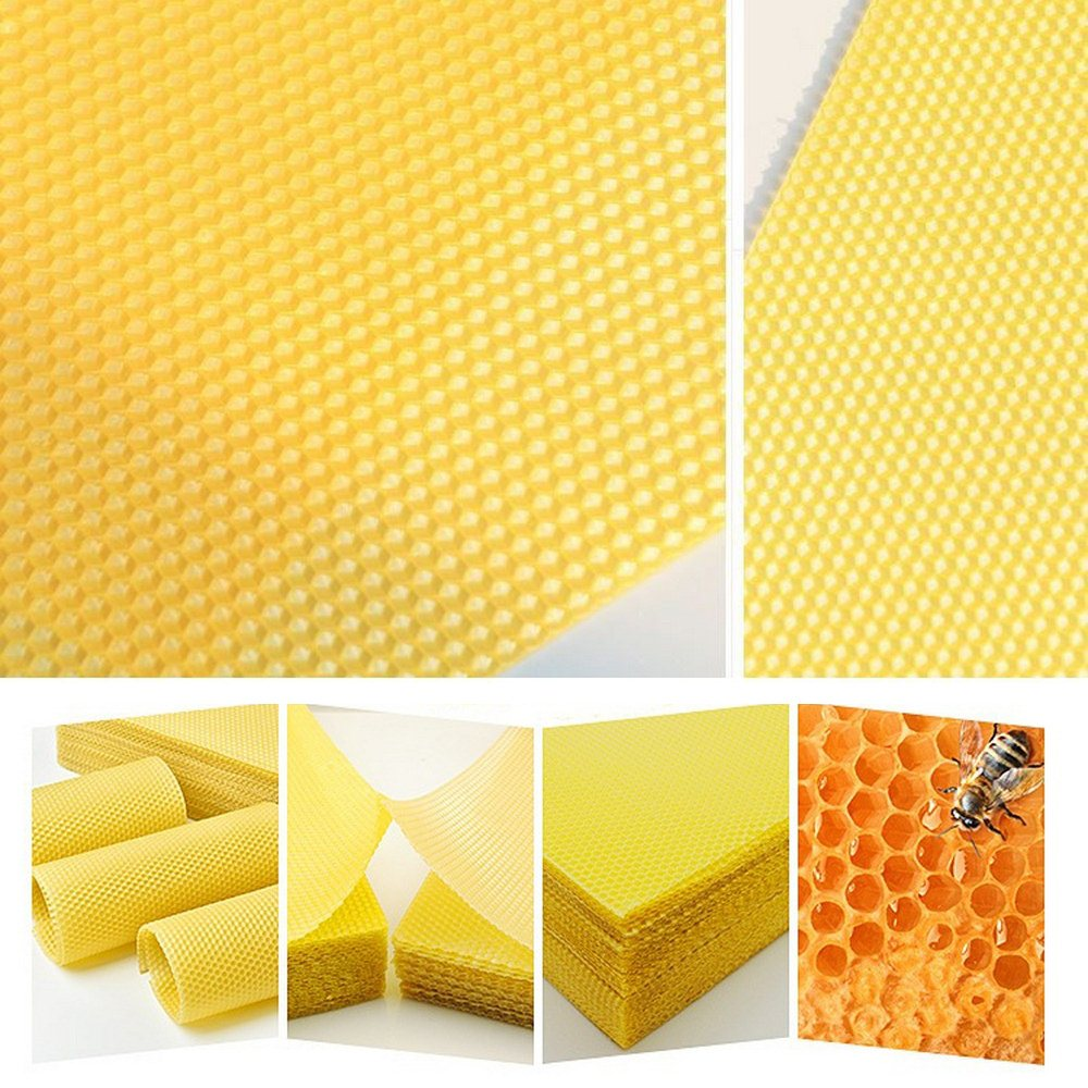 Bee Supplies Honeycomb Wax Frames Beekeeping Foundation Honey Hive Equipment 10