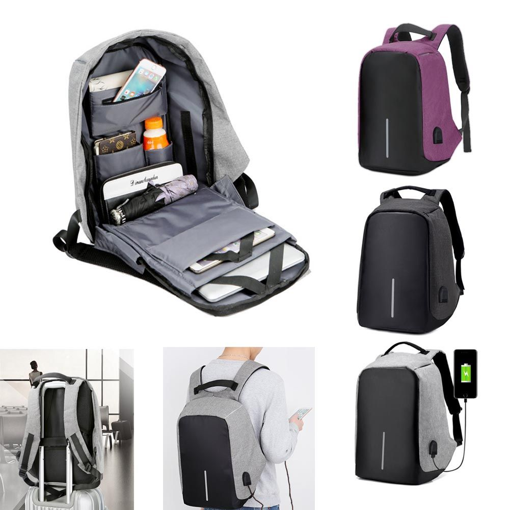 Details about Anti-Theft Water Repellent Backpack USB Port XD Bobby Camera  Laptop School Bags
